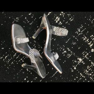 Stuart Weitzman Rhinestone and Lucite heels